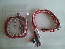 Southampton football bracelet made of waxed cotton in club colours & SFC beads