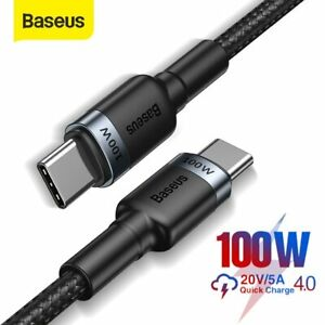 Baseus 2m 100W USB C to USB Type C Fast Charging Cable for Samsung S20 Macbook
