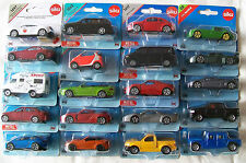 SIKU Blister Carded MINIATURE CARS, MULTI PURPOSE / UTILITY VEHICLES (5 - 8cm)