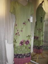 DONNA RICCO LT GREEN FLORAL PRINT $138 CAP SLV DRESS, SZ 8, NEW