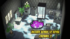 New Horizons -🛋RARE 28 PC Black Bathroom Shower SPA Furniture Set + 12 Crowns🛋