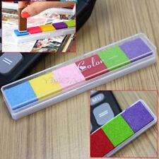 Non-toxic 6 Color Ink Pad Inkpad Stamp Finger Print Album Card-making Craft DIY