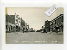 Harmony Mn Minn (Fillmore Co) Rppc real photo Main Street view, stores, old cars