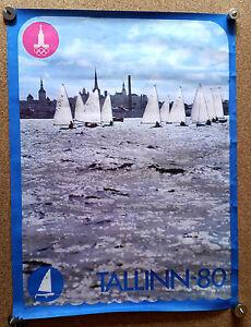 XXII Moscow-1980 Olympics Games SAILING Tallinn Class FINN Large Size Poster
