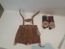 KARL KLUBER LEDERHOSEN SUEDE LEATHER YOUTH KIDS SAPEN SOCKS NEW NWT K 102T 98