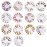 Super 3D Nail Art Rhinestones Glitter Acrylic Tips Decoration DIY Manicure Wheel