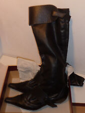BOTTES chaussure STEPHANE GONTARD furia BLACK BOOTS en cuir de veau TAILLE 39