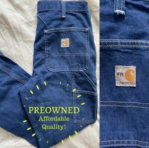 Carhartt FR • 38x32 • Preowned Mens Carpenter Denim Flame Resistant Jeans 290-83