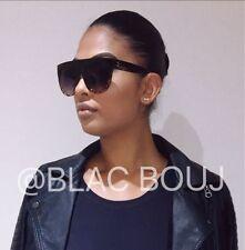 Celine Tapa Plana inspirado leopardo y negro de gran tamaño para mujer Gafas de sol