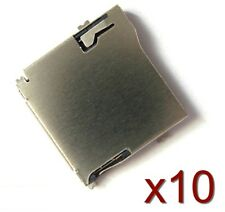10x Socket slot/connecteur à souder pr micro SD type TF card Slot Socket welding