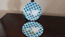 Dept. 56 Treillage Blue Salad Plates x 2 Ducks