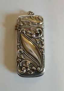 American Sterling Silver Art Nouveau Match Safe , 15 grams