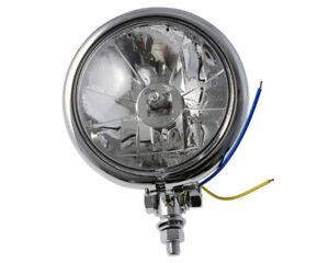Scheinwerfer Motorrad Fernlicht klar 4 1/2 Zoll, Bates-Style, Kontrollleuchte