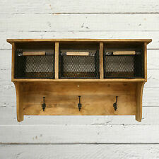 Industrial Style Coat Storage Rack Mango Hardwood with Baskets BRAND NEW