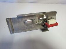 VINTAGE SWING-A-WAY WALL MOUNT CAN OPENER MAGNETIC LIFTER Red Handle worn