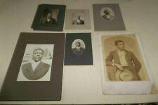 6 Antique Vtg Black Americana Cabinet Photos - all Distinguished Men Some Named