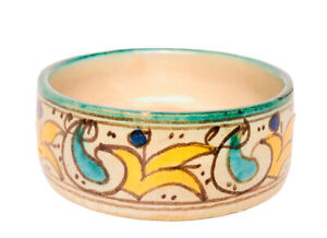 Vintage ceramic glazed moroccan Serving Bowl pottery Small