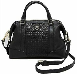 TORY BURCH BRYANT BLACK LEATHER QUILTED WOMEN'S MINI SATCHEL BAG