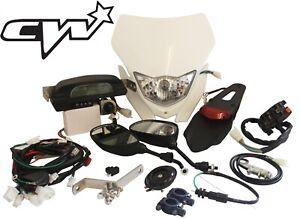 Pit bike Lighting Kit Headlight Horn Mirrors Speedometer Universal