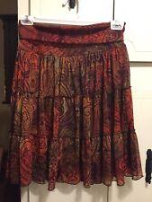 Womens BCX Lined Fold Over Skirt-M