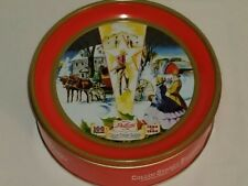 "Vtg. Decorative Fruit Cake Tin Collin Street Bakery Corsicana, Texas 7 ¼""x3"""