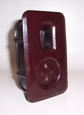 Bakelit Steckdose mit Kippschalter Loft Vintage Bauhaus Industrie Design (E117