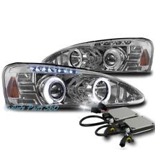 04-08 PONTIAC GRAND PRIX HALO LED PROJECTOR HEADLIGHTS LAMPS CHROME W/6K HID KIT