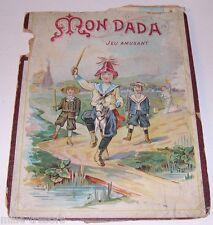 MON DADA Jeu amusant du type JEU des SERPENTS et des ECHELLES - CHROMO XIXème
