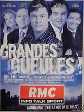 PUBLICITÉ RMC INFO TALK SPORT GRANDE GUEULES - TRUCHOT - MARSCHALL - DE MENTHON