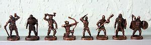 Lot of 8 SOLDIERS VIKINGS - CHOCOLATE EGG KINDER SURPRISE Metal figurines