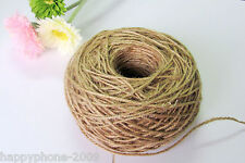 100m/roll 3ply Natural Hessian Rustic Twisted Jute Twine String 2mm Wedding Deco