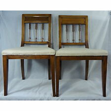 Pair Empire Arrow back chairs