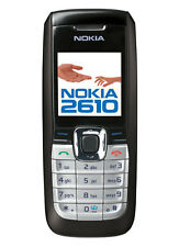 SIMPLE BLACK NOKIA 2610 CHEAP MOBILE PHONE - UNLOCKED / SIM FREE WITH A WARRANTY