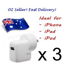 3 x AC Wall Charger for Apple iPhone, iPad & iPod