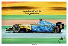 Pintura Original Fernando Alonso Renault Rs 26 2006