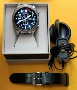 Samsung Galaxy Gear S3 Classic sm-r770 46 mm Stainless Silver black leather  bt