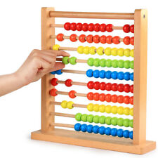 Wooden Rainbow Abacus Kids Math Toys Numbers Counting Calculating Beads Toy Gift