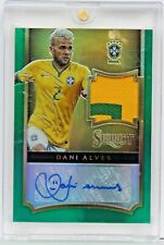 2015-16 Panini Select Soccer Dani Alves Green Auto Card #1/3 Jersey Patch Brazil