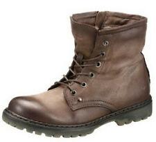 Mjus Italy Stiefelette 38 LEDER Taupe Antik Winter Boots Stiefel Lammfell NEU