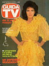 rivista GUIDA TV ANNO 1983 NUMERO 20 SONIA RAULE