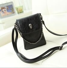 'Skull' Biker, Gothic clutch bag-handbag evening clutch wallet purse BLACK NWT