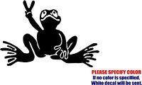 """Peace Frog #3 Decal Sticker JDM Funny Vinyl Car Window Bumper Truck Laptop 7"""""""