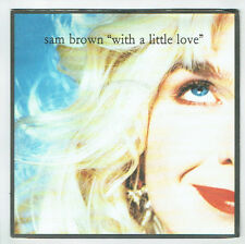 "Sam BROWN Vinyl 45T 7"" WITH A LITTLE LOVE Juke Box mini trou AM Records 539 RARE"