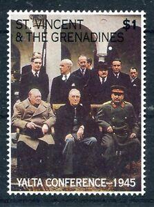 St. Vincent Grenadines 1995 MNH - Yalta Conference: Churchill, Roosevelt, Stalin