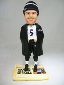 Joe Flacco Baltimore Ravens Mile High Miracle Newspaper Base Bobblehead