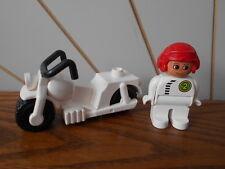 Moto et pilote FIGURINE LEGO DUPLO vintage pièce de rechange Moto Véhicule