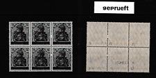 Saargebiet-postfrisch,geprüfter 6er Block Nr 15,Uberdruck Sarre Ausgabe 1920