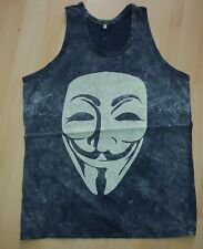 Vendetta Maske T-Shirt Top blau retro Anonymous Gr. XL Neu
