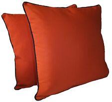 "D&M Polyester 18""x18"" Indoor/outdoor Decorative Throw Pillow, set of 2, Orange"