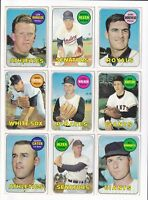 1969 Topps 1st Series Baseball PICK LOT-YOU Pick any 2 of the 13 cards for $1!
